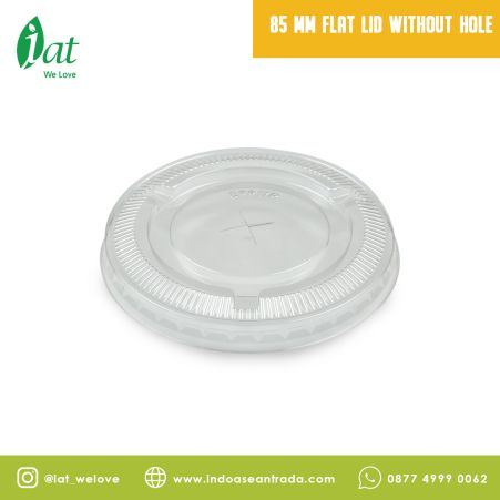 Ice Cream / Puding 85 mm Flat Lid without Hole 1 85_mm_flat_lid_without_hole