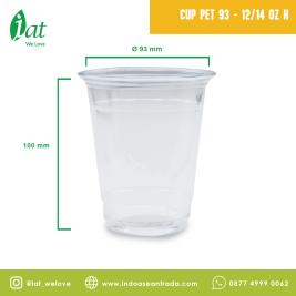 PET Cup 1214 oz D93 mm  414 ml