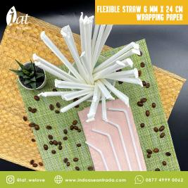 Flexible Straw 6 MM X 24 CM Wrapping Paper