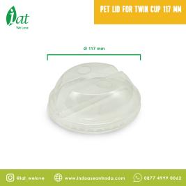 PET Lid for Twin Cup 117 mm